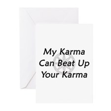 Karma Beat Down Greeting Cards (Pk of 10)