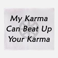 Karma Beat Down Throw Blanket
