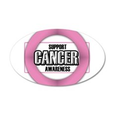 Cancer Awareness 22x14 Oval Wall Peel
