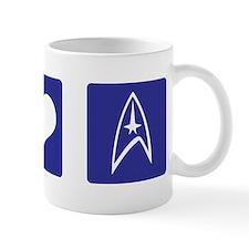 Peace Love Star Trek Mug