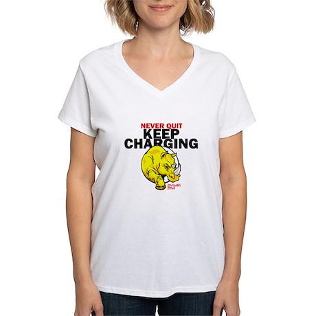 Keep Charging Women's V-Neck T-Shirt