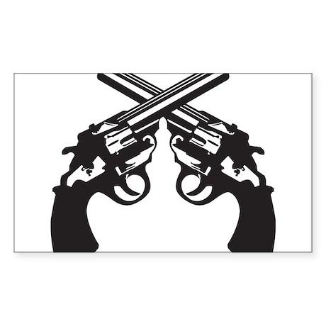 Guns Sticker (Rectangle)