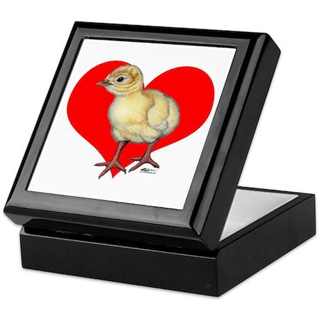 Turkey Poult Heart Keepsake Box