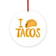 I heart Tacos Ornament (Round)
