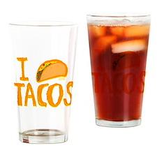 I heart Tacos Drinking Glass