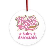 Sales Associate Gift (World's Best) Ornament (Roun