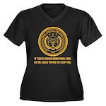 ATF Women's Plus Size V-Neck Dark T-Shirt