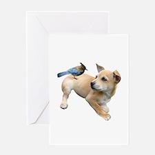 Puppy Jay Greeting Card