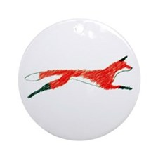 Leaping Fox Ornament (Round)