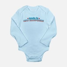 Made in New Hampshire Long Sleeve Infant Bodysuit