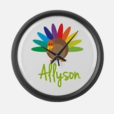 Allyson the Turkey Large Wall Clock
