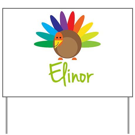 Elinor the Turkey Yard Sign
