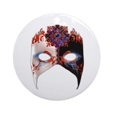 Venetian Mask: Carnival Jewel Ornament (Round)
