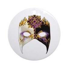 Venetian Mask: Amethyst Jewel Ornament (Round)