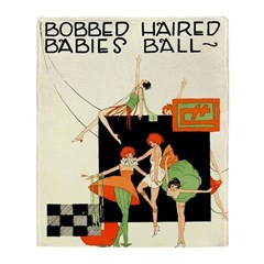 Bobbed Haired Flappers Throw Blanket
