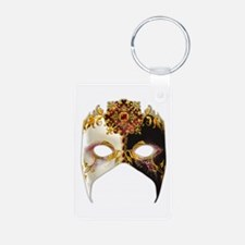 Venetian Mask: Ruby Jewel Keychains