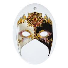 Venetian Mask: Ruby Jewel Ornament (Oval)