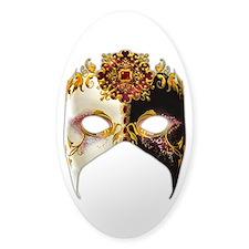Venetian Mask: Ruby Jewel Sticker (Oval)