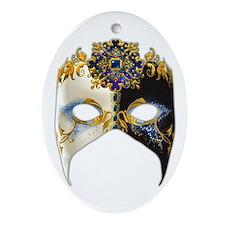 Venetian Mask: Sapphire Jewel Ornament (Oval)