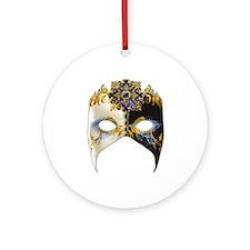 Venetian Mask: Sapphire Jewel Ornament (Round)