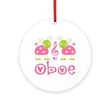 Ladybug Oboe Music Ornament (Round)