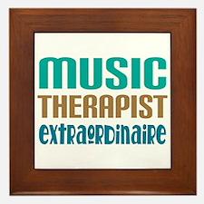Music Therapist Extraordinaire Framed Tile