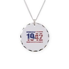 1942 Made In America Necklace Circle Charm