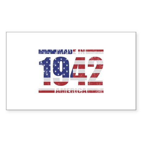 1942 Made In America Sticker (Rectangle)