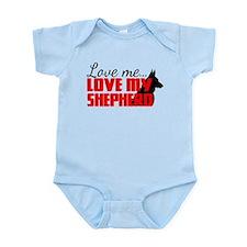 Love Me, Love My Shepherd Infant Bodysuit