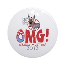 OMG! Anti-Obama Ornament (Round)