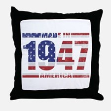 1947 Made In America Throw Pillow