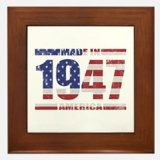 1947 Made In America Framed Tile