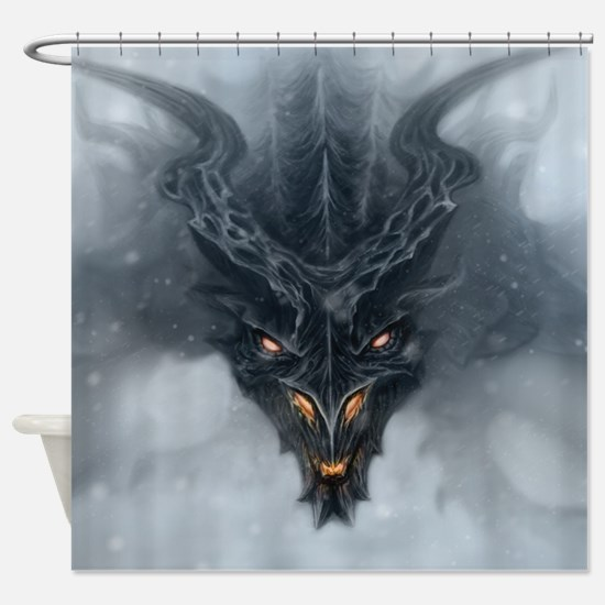 Evil Dragon Shower Curtain