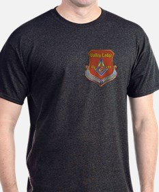 Masonic Valley Lodge Emblem Black T-Shirt
