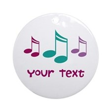 Design Your Own Music Ornament (Round)