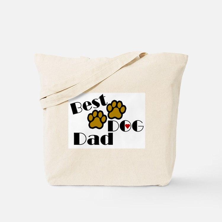 Best Dog Dad Tote Bag