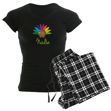 Nadia the Turkey Women's Dark Pajamas