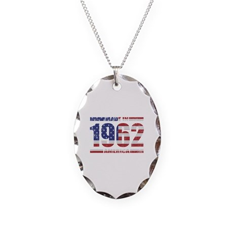 1962 Made In America Necklace Oval Charm