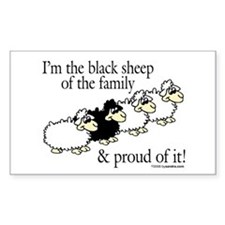 Black Sheep Rectangle Decal