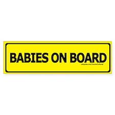 Unique Baby on board Bumper Stickers