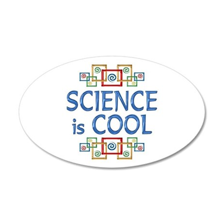 Science is Cool 38.5 x 24.5 Oval Wall Peel
