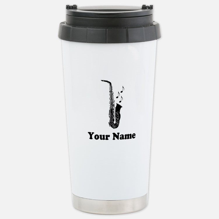 Personalized Saxophone Travel Mug