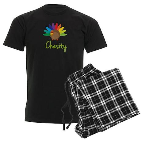 Chasity the Turkey Men's Dark Pajamas