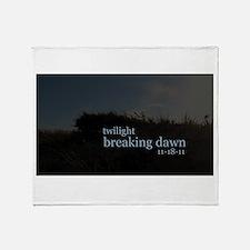 Twilight Breaking Dawn Beach Throw Blanket