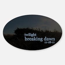 Twilight Breaking Dawn Beach Sticker (Oval)