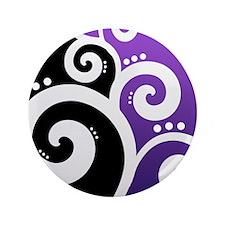 "Elegant Swirls Purple Necklace Heart Charm 3.5"" Bu"