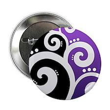 "Elegant Swirls Purple Necklace Heart Charm 2.25"" B"