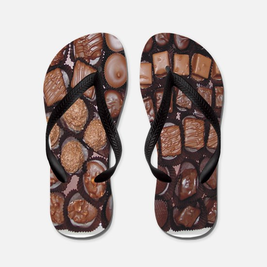 Chocolate Candy Flip Flops