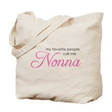 Favorite People Call Me Nonna Tote Bag