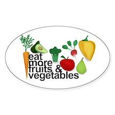 Eat Fruits & Vegetables Decal